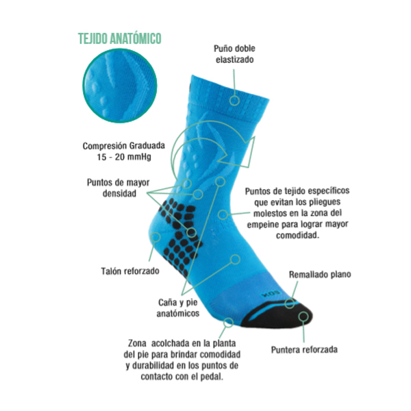 Sox Media de Ciclismo Compresion TE109B